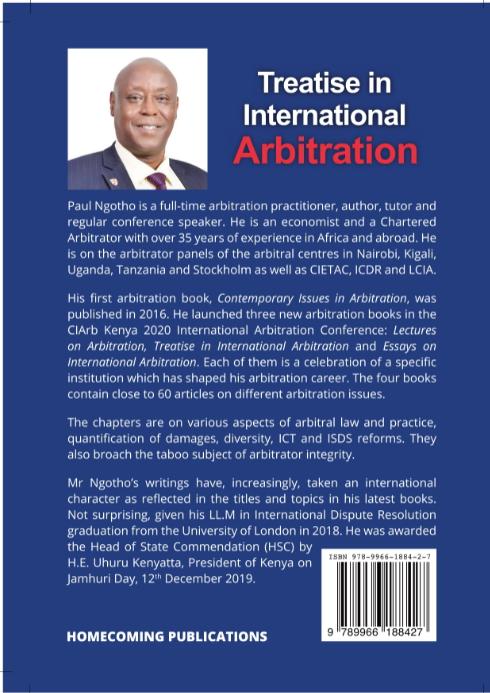 Treatise in International Arbitration back